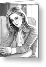 Emma Watson Greeting Card by Crystal Rosene
