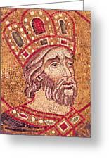 Emperor Constantine I Greeting Card by Byzantine School