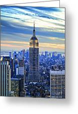 Empire State Building New York City Usa Greeting Card by Sabine Jacobs
