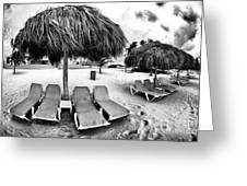 Empty Lounges Greeting Card by John Rizzuto