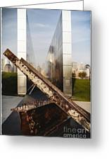 Empty Sky New Jersey September 11th Memorial Greeting Card by George Oze