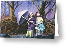 Enchanted Forest Greeting Card by Vivien Rhyan