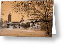 Enchanted Old Town Greeting Card by Davorin Mance
