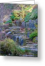 Enchanted Stairway Greeting Card by Athena Mckinzie