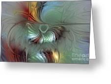 Enchanting Flower Bloom-abstract Fractal Art Greeting Card by Karin Kuhlmann
