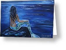 Enchanting Mermaid Greeting Card by Leslie Allen