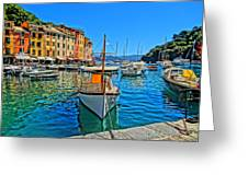 Enchanting Portofino In Ligure Italy Iv Greeting Card by M Bleichner