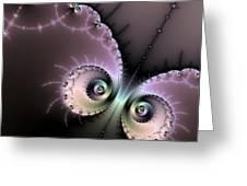 Encounter - Digital Fractal Artwork Greeting Card by Matthias Hauser