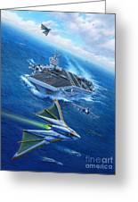 Encountering Atlantis Greeting Card by Stu Shepherd