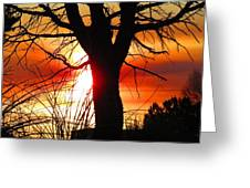 End Of Day Greeting Card by Feva  Fotos