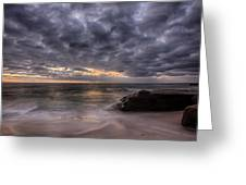 End Of Light Greeting Card by Peter Tellone