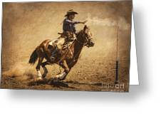 End Of Trail Mounted Shooting Greeting Card by Priscilla Burgers