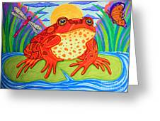 Endangered Red Legged Frog Greeting Card by Nick Gustafson