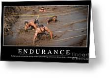 Endurance Inspirational Quote Greeting Card by Stocktrek Images