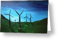 Energy In The Morning Greeting Card by Rob Spencer