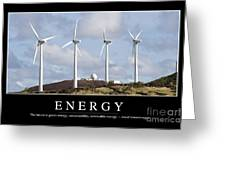 Energy Inspirational Quote Greeting Card by Stocktrek Images