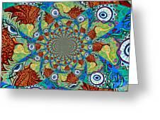 Energy Sprite Kaleidosope Greeting Card by Genevieve Esson