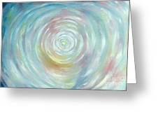 Energy Vortex Greeting Card by Eileen Anglin