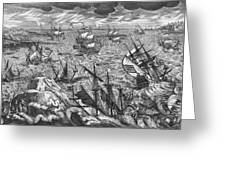 England S Great Storm Greeting Card by English School