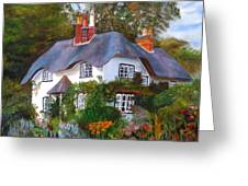 English Cottage Greeting Card by LaVonne Hand