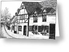 English Village Greeting Card by Shirley Miller