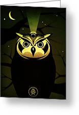 Enlightened Owl Greeting Card by Milton Thompson