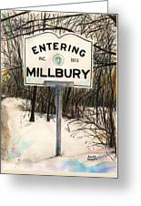 Entering Millbury Greeting Card by Scott Nelson