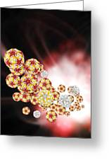 Enterovirus Particles Greeting Card by Science Photo Library