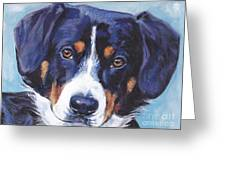 Entlebucher Mountain Dog Greeting Card by Lee Ann Shepard
