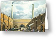 Entrance Of The Railway At Edge Hill Greeting Card by Thomas Talbot Bury