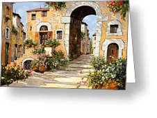 Entrata Al Borgo Greeting Card by Guido Borelli