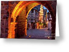 Entry To Riquewihr Greeting Card by Brian Jannsen