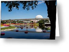 Epcot At Disney World Greeting Card by Roger Wedegis