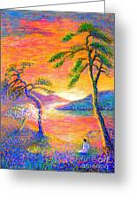 Divine Light Greeting Card by Jane Small
