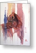 Erasto Man Of Peace Greeting Card by Ray Agius