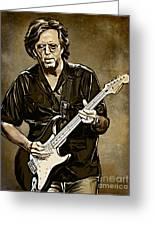 Eric Clapton Greeting Card by Andrzej Szczerski