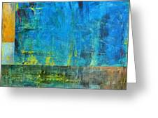 Essence Of Blue Greeting Card by Michelle Calkins