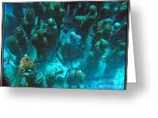 Estatuas Submarinas Greeting Card by Agus Aldalur