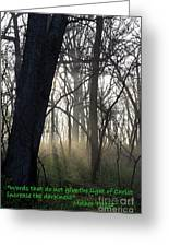 Eternal Light Greeting Card by Rick Rauzi