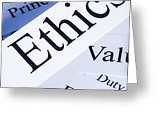Ethics Concept Greeting Card by Colin and Linda McKie