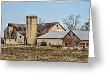 Ethridge Tennessee Amish Barn Greeting Card by Kathy Clark