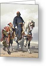 Eunuch Of The Seraglio On A Fine Arab Greeting Card by Amadeo Preziosi