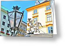 Europe Street Greeting Card by Yury Bashkin