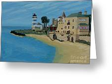 European Lighthouse Greeting Card by Anthony Dunphy