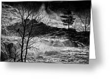 Evening Great Falls Maine Greeting Card by Bob Orsillo