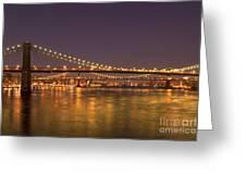 Evening II New York City Usa Greeting Card by Sabine Jacobs