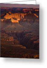 Evening In The Canyon Greeting Card by Andrew Soundarajan