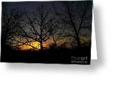 Evening In The Indian Nations Greeting Card by R McLellan