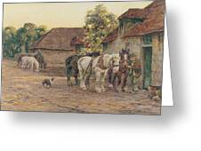 Evening Greeting Card by Joseph Harold Swanwick