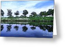 Evening Lake Greeting Card by Svetlana Sewell